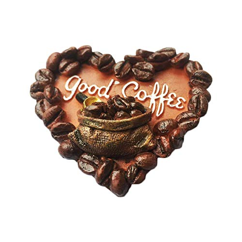 Coffee Bean Magnets - 3D Coffee Bean USA Refrigerator Fridge Magnet Tourist Souvenirs Handmade Resin Craft Magnetic Stickers Home Kitchen Decoration Travel Gift
