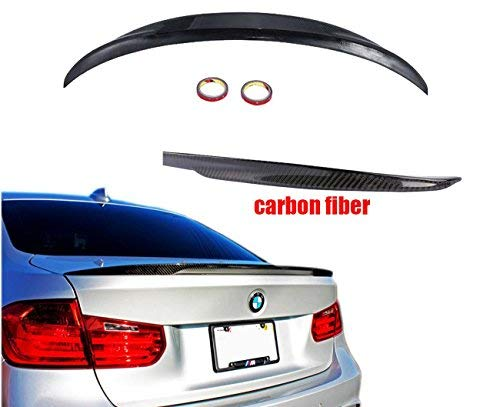 Price comparison product image Mophorn Carbon Fiber Rear Trunk Lip Spoiler Waterproof Carbon Fiber Rear High Performance Rear Wing Spoiler (for BMW)