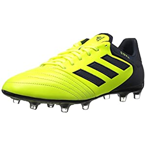 adidas Originals Men's Copa 17.2 Firm Ground Cleats Soccer Shoe, Solar Yellow/Legend Ink/Legend Ink, (8.5 M US)