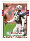 Michael Irvin football card (Dallas Cowboys) 1989 Topps #383 Rookie Card