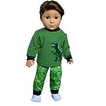 My Brittany's Dinosaur Pjs for American Girl Boy Doll- 18 Inch Boy Doll Clothes