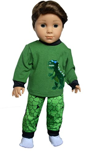 (Brittany's My Dinosaur Pjs Compatible with American Girl Boy Doll- 18 Inch Boy Doll Clothes- (Logan is not Included) )