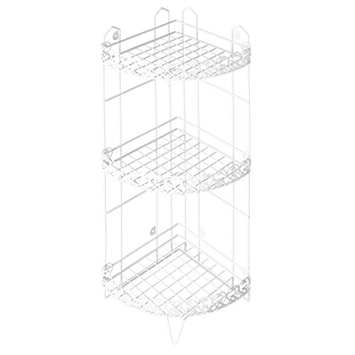 3 Tier Free standing Corner Bathroom Storage Shelf Rack Shower Caddy ...