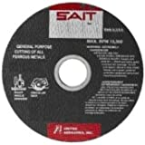 United Abrasives SAIT 24051 Type 1 14-Inch x 3/32-Inch x 1-Inch IronWorker Chop Saw Wheel, by SAIT