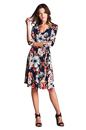 Floral Jersey Wrap Dress - 1