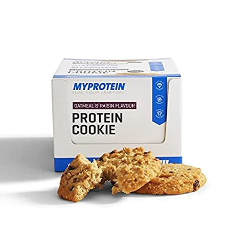 MyProtein Cookie Galletas de Proteínas, Sabor Oatmeal Raisin - 12 Unidades: Amazon.es: Salud y cuidado personal