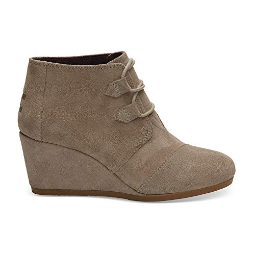 TOMS Women's Kala Bootie, Size: 7 B(M) US, Color: Desert Taupe Suede