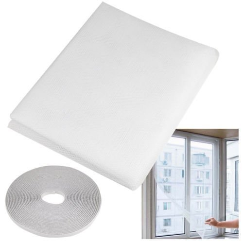 She-love Window Screen Netting Mesh, 1.3 x 1.5m Insect Mosquito Door Net Magnetic Velcro Tape White (5)