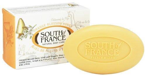South Of France Bar Soap, Natural, Honey, 6 oz ( Multi-Pack)