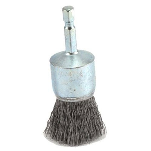 Forney 72737 Wire End Brush, Coarse Crimped with 1/4-Inch Hex Shank, (Mounted Crimped Wire End Brush)
