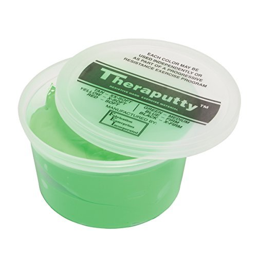 CanDo TheraPutty Plus Anti-microbial, Green: Medium, 1 lb by Theraputty by Theraputty