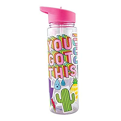 Fashion Angels Sticker Collage Hydro Craft Kit 12532 Personalize Your Water Bottle Sticker Set, Includes 20oz. BPA Free Water Bottle, Multi: Toys & Games