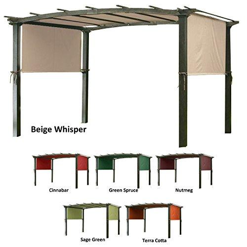 OPEN BOX Universal Replacement Pergola Canopy Top Cover - Beige (Pergola Top)