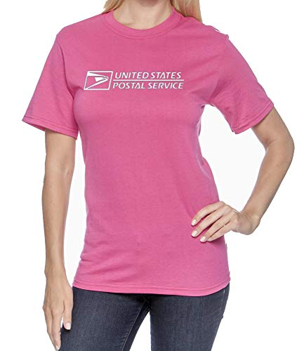 Unisex USPS Postal Post Office DriPower 50/50 Active Short Sleeve Tee Tshirt by PCA Etc (M-Pink)]()
