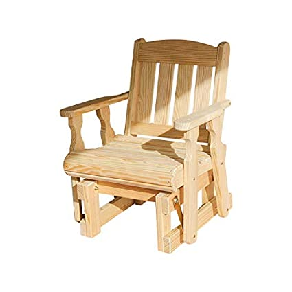 size 40 c1540 0f3e0 Amish Heavy Duty 600 Lb Mission Pressure Treated Glider Chair (Unfinished)