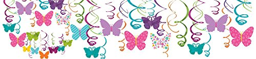 Amscan 670405 Swirl Decors Item Assorted Sizes Multicolor