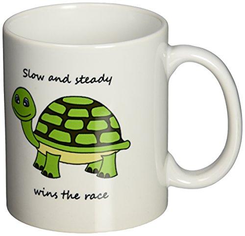 3dRose Steady Turtle 11 Ounce Green