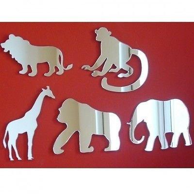 Safari Animals Wall Mirror Bundle