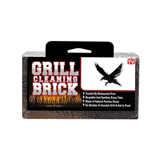 (Grill Brick   Cleaning   Stone   Grills   BBQ   Griddle   Block   Commercial   Griddle   Large   Sanitation  Gas Grill   Grilling Cleaner   BBQ   Pumice   Bristle-Free   8X4X3.5 Inch Brick   Flat Top)