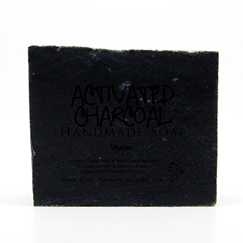 Activated Charcoal Handmade Soap, Best Soap for Acne, Pimples, Detox Skin, Clear Skin, Vegan, Organic, 100% Natural
