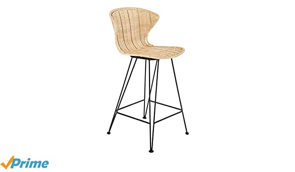 Awesome Amazon Com Kouboo 1110128 Jaro Rattan Metal Legs Natural Squirreltailoven Fun Painted Chair Ideas Images Squirreltailovenorg