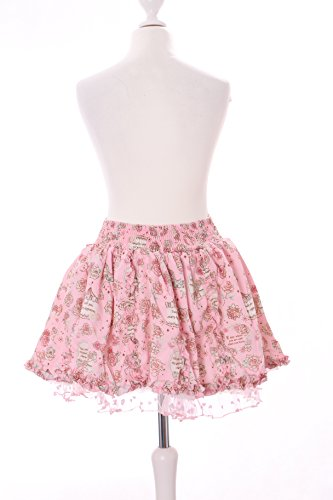 TR-04-2 rosa Satin Tüll Blümchen Kurz Höschen-Rock Pants Pastel Goth Lolita Japan Harajuku