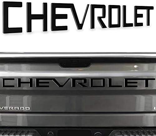 KENPENRI Tailgate Insert Letters Compatible2019 2020 Chevrolet Silverado - 3M Adhesive & 3D Raised Tailgate Letters -Matte Black