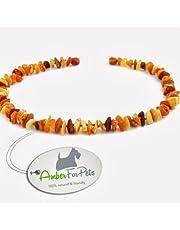 AmberForPets Bernstein Halsband für Hunde und Katzen Bernsteinkette Zeckenhalsband Zeckenschutz 30cm