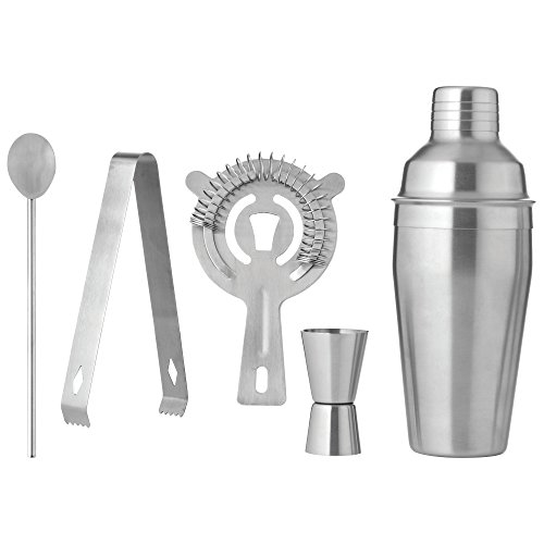 BF Systems KTBARST2 Stainless Steel 5 Piece Cocktail Martini Shaker Set