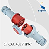 Gimax Combination Sale 5P 63A 400V International Standard Industrial Plug & Connector IP67