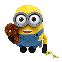 """DESPICABLE ME (MINIONS) - Plush toy """"Bob"""" with small teddy bear (11""""/28cm) - Quality Super Soft"""