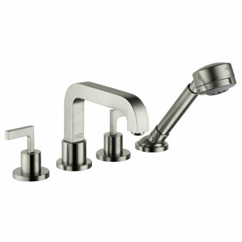 - Hansgrohe 39454821 Axor Citterio 4 Hole Roman Tub Trim with Lever Handle, Brushed Nickel by AXOR