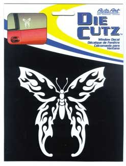 Chroma 3631 Flaming Butterfly Die Cutz - White Decal