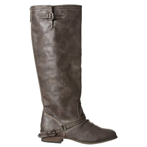 Breckelles Womens Outlaw-91 Buckle Rijlaarzen Taupe