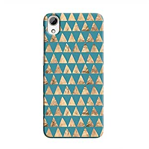 Cover It Up - Brown Blue Triangle Tile Desire 826 Hard Case
