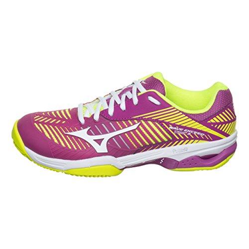 Mizuno Exceed Tour Para Wave Wos jaune Tenis CC Mujer Zapatillas de violet rHqrZnw5R