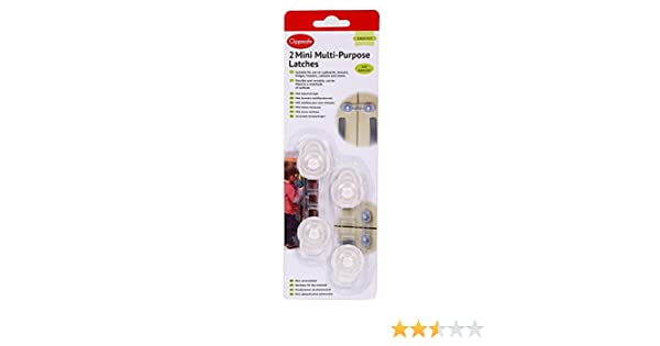 CLIPPASAFE 2 MINI MULTI-PURPOSE LATCHES//LOCKS BABY//CHILD SAFETY PROOFING NEW