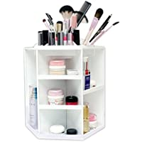 Spinning Makeup Organizer – 360 Rotating Cosmetic Storage Box, Plastic