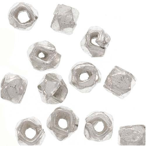 Bali Style Sterling Silver Faceted Nugget Beads 3mm (12)