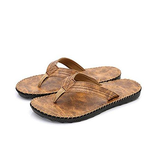 2017 Sydkorea Stil Sömmar Flip Flops Glida Platta Sandaler För Män Gul