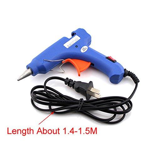 20W Hot Melt Glue Gun 7mm Glue Stick Industrial Mini Guns Thermo Electric Gluegun Heat Temperature Tool For DIY Repairs+20PCS 100MM7MM Glue Stick
