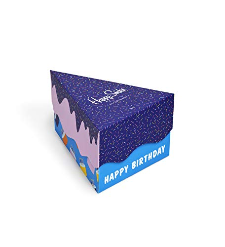 - Happy Socks Happy Birthday Socks Gift Box Blue,Orange,Pink,Yellow 10-13