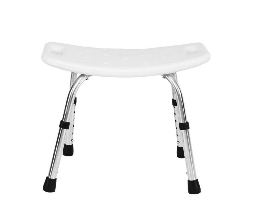 健康&パーソナルケアのシャワーチェアバリアブル/バスルーム用のスツール高齢者のためのスツールホワイト調節可能6高さ最大荷重150kg (色 : #1) B07F3WVBQF  #1