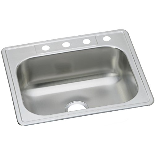 Dayton DSE125224 Single Bowl Top Mount Stainless Steel Sink Elkay Sink Clips