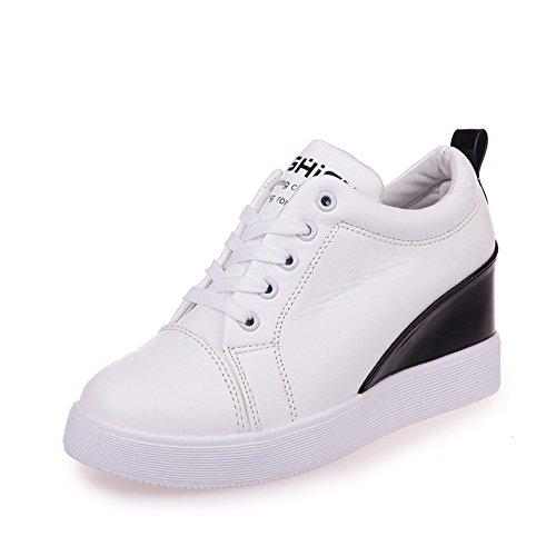 Innere Höhe Flach Bottom Singles Schuhe, spitzen-Schuhe In Den Höheren Schweren Boden,Round Head Female Board Schuhe,Le Fu Studenten Womens Shoes A