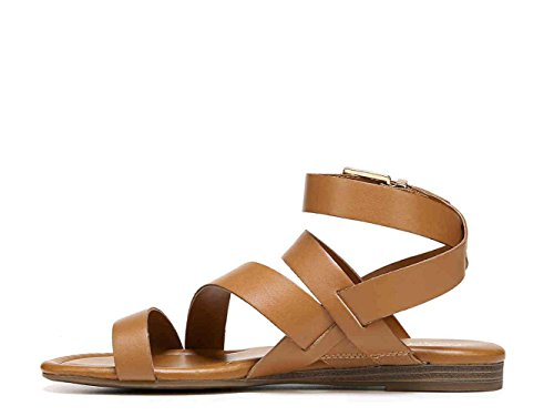 Franco Sarto Womens Gauge Open Toe Casual Strappy Sandals, Havana le, Size 9.5 - Franco Apparel