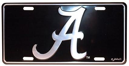 Alabama Car Tags >> Amazon Com Ncaa Alabama Crimson Tide Car Tag Elite Sports Outdoors