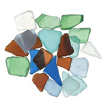 Bulk Buy: Darice DIY Crafts Sea Glass in Mesh Bag Multicolor Rainbow Mix 1lb (3-Pack) (Sea Glass Pieces)