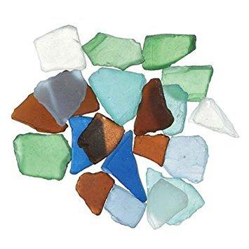 Sea Glass Vases (Bulk Buy: Darice DIY Crafts Sea Glass in Mesh Bag Multicolor Rainbow Mix 1lb (3-Pack) 1140-67)