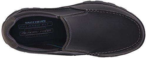 Skechers Mens Modigare Rayland Slip-on Loafer Svart Läder